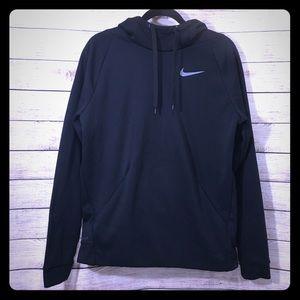 Nike Dri-Fit Black Hooded Sweatshirt Medium